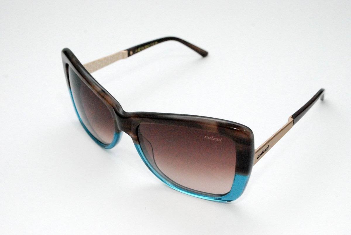 Óculos De Sol Colcci Csa 5047 Marrom E Azul - R  368,00 em Mercado Livre d7f569b64e