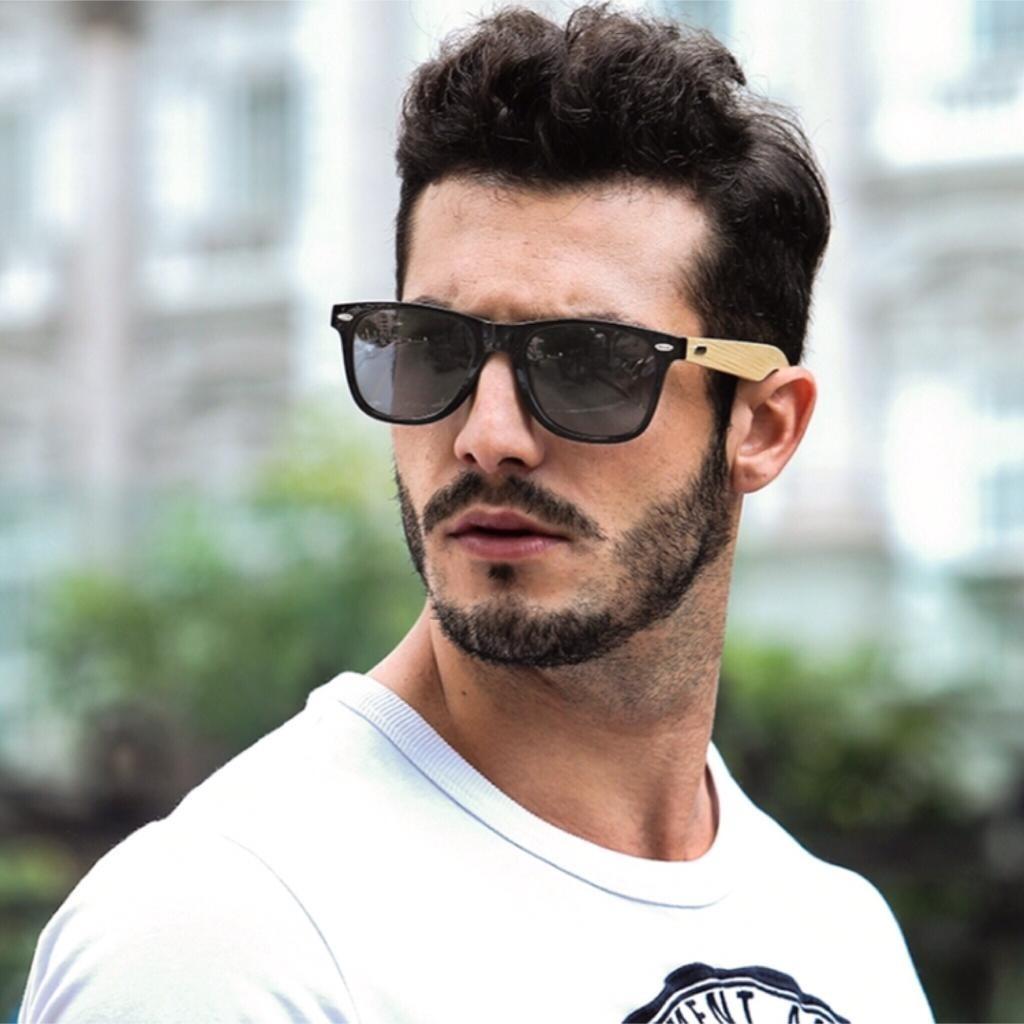 4be77c8e2 Óculos De Sol Com Haste De Madeira - R$ 120,00 em Mercado Livre