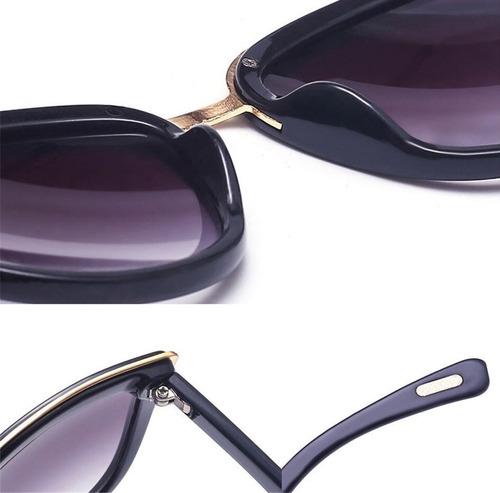 óculos de sol com lente gradiente e armação redonda uv 400