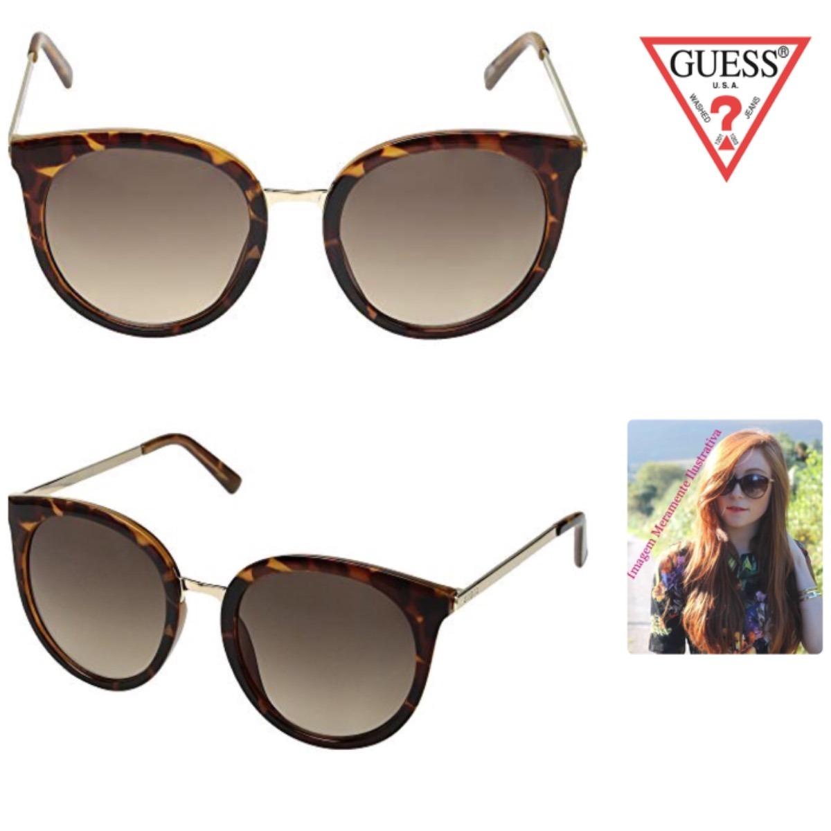 298e97991b5f7 Óculos De Sol De Gatinha Guess Original Sem Estojo - R  166