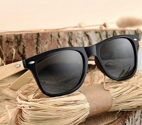 Óculos De Sol De Madeira Bambu Bamboo 10% Off Queima Total - R  69 ... caaf1f8e01