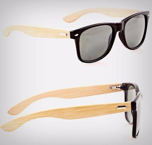 bfc2be53b Óculos De Sol De Madeira Bambu Melhor Unissex Preto Novo - R$ 49,99 ...