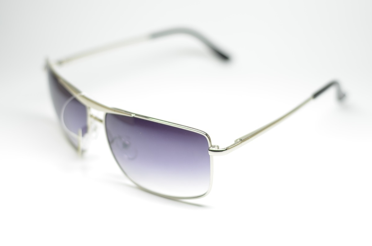 06d9d5566b1f6 óculos de sol degrade prata grande quadrado proteção uv400. Carregando zoom.