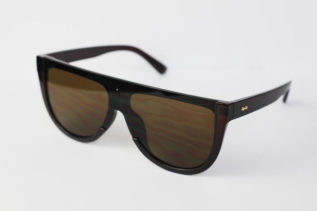 4f5ccff3b óculos de sol design reto liso com lente gradiente e armação. Carregando  zoom.