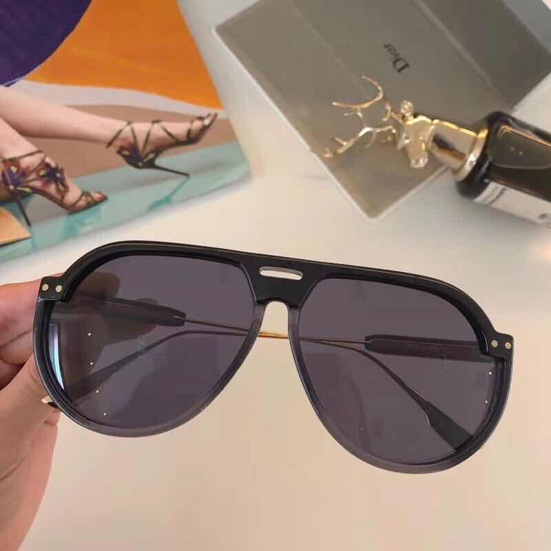 17d78c6a77f óculos de sol dior club 3 preto aviador acetato proteção uv. Carregando  zoom.
