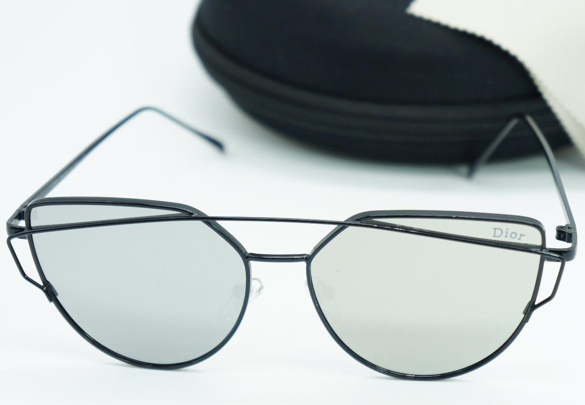 oculos de sol dior feminino espelhado cinza preto barato. Carregando zoom. fde3ed365b