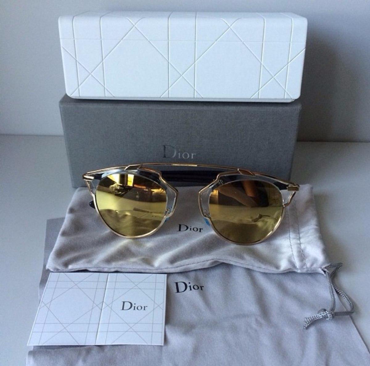 Óculos De Sol Dior So Real Original Gold - R  770,00 em Mercado Livre 2e898d33e0