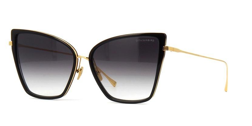 1e811cc2572c9 Oculos De Sol Dita Sunbird Cat Luxo Preto dourado - R  59