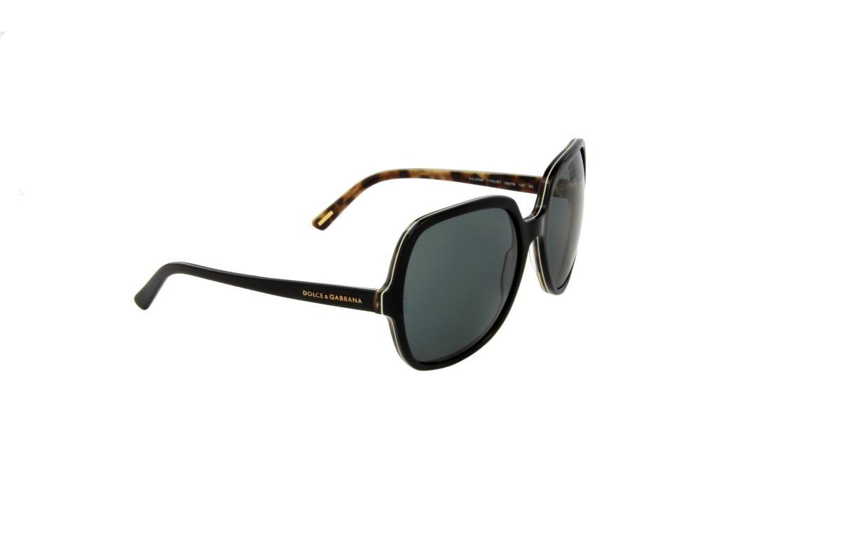 23b6bbc602df8 óculos de sol dolce gabbana 100% proteção u.v. melani preto. Carregando  zoom.