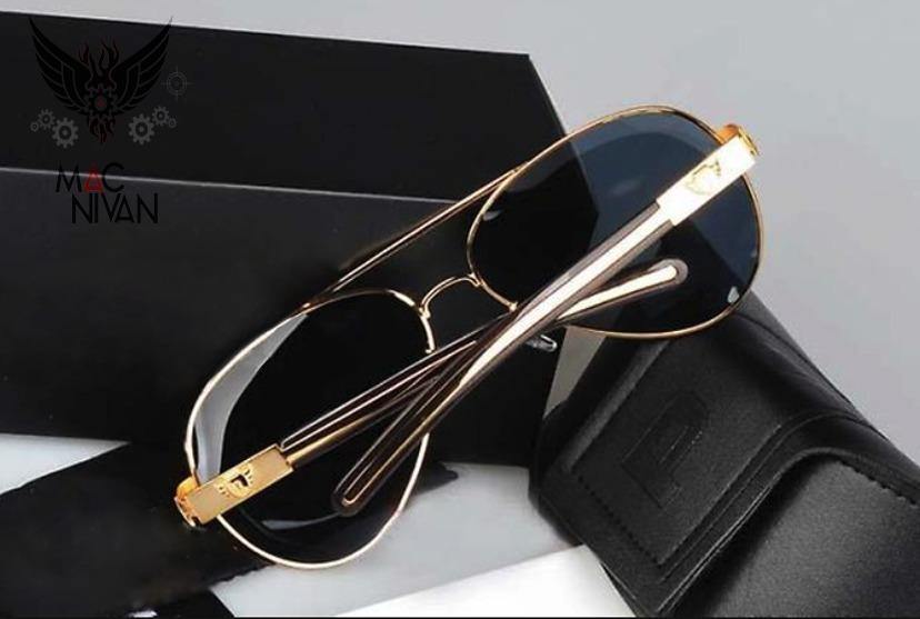 bcc5ae435c288 óculos de sol dourado aviador police polarizado super brinde. Carregando  zoom.