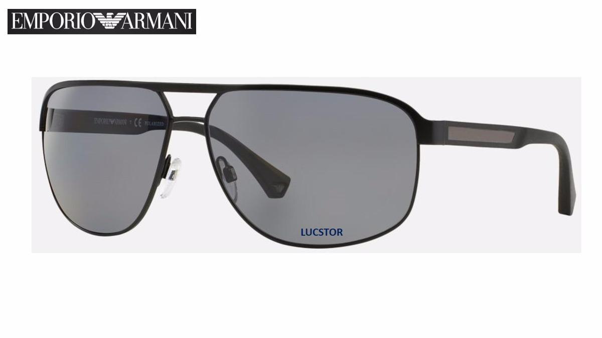 57ca69a493a84 Oculos De Sol Emporio Armani Ea2025-3001 81 Metal Polarizado - R ...