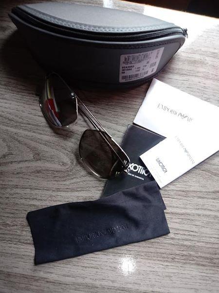 800ae660c55 Óculos De Sol Emporio Armani Ea2053 30156g Prata Lente Espel - R ...