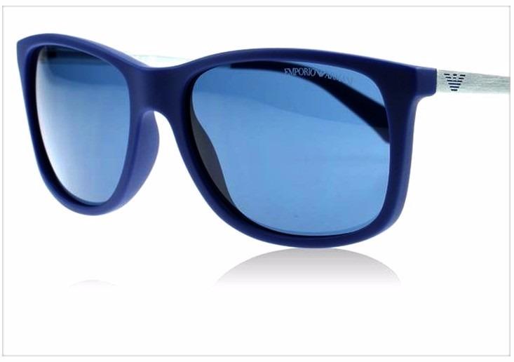 d5a01ab60 Óculos De Sol Emporio Armani Ea4023 Azul Prata - R$ 599,90 em Mercado Livre