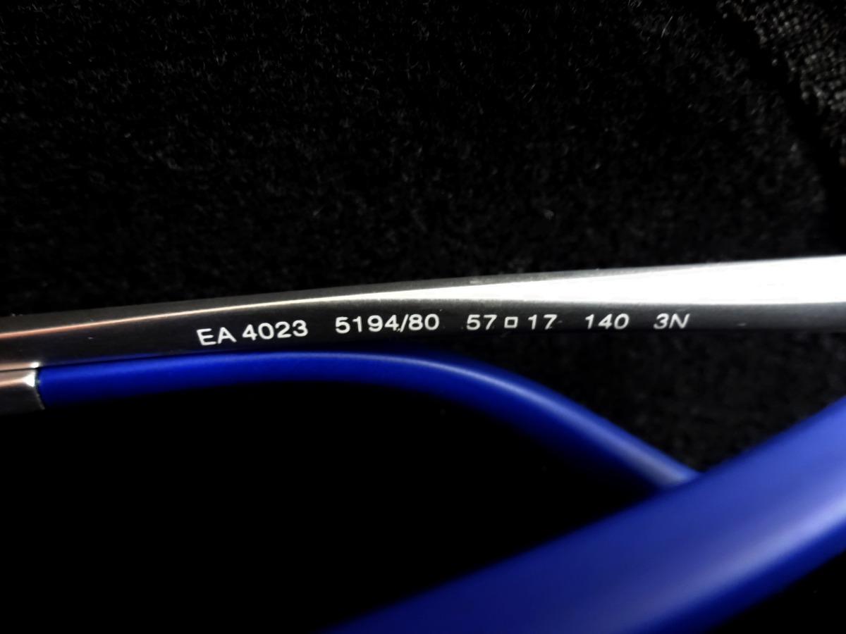 ae40d23f8 Óculos De Sol Emporio Armani Ea4023 Azul Prata - R$ 599,90 em ...