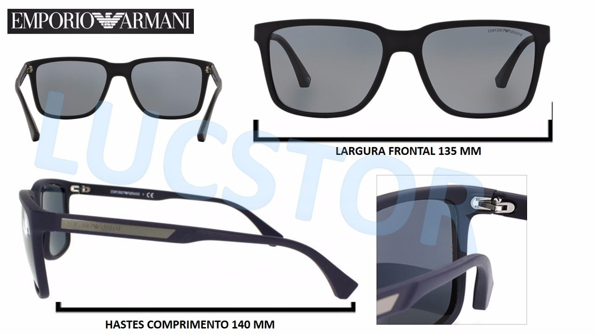 c67c86c7d oculos de sol emporio armani ea4047-5063/81 acetat polarizad. Carregando  zoom.