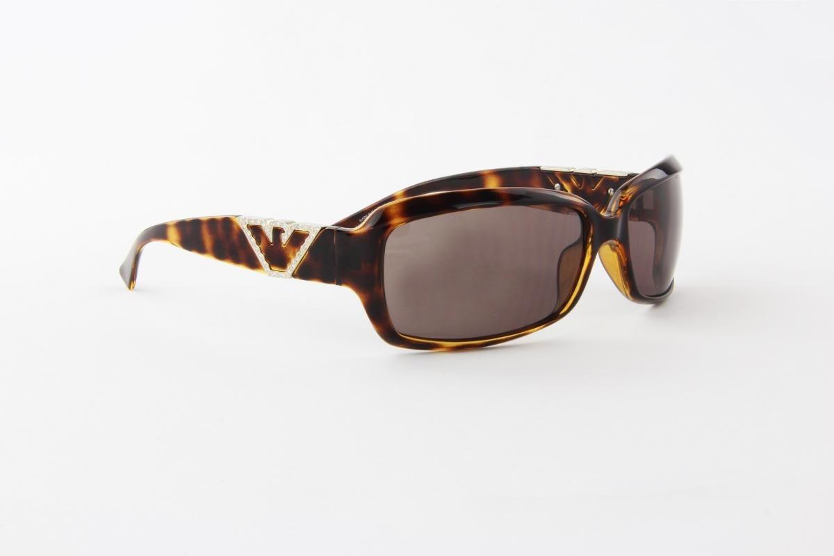 óculos de sol emporio armani marrom tartaruga lente marrom. Carregando zoom. dd2fc8a3e8