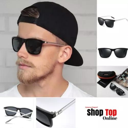 Óculos De Sol Escuro Espelhado Quadrado Masculino Feminino - R  124,99 em  Mercado Livre 2f272330b5
