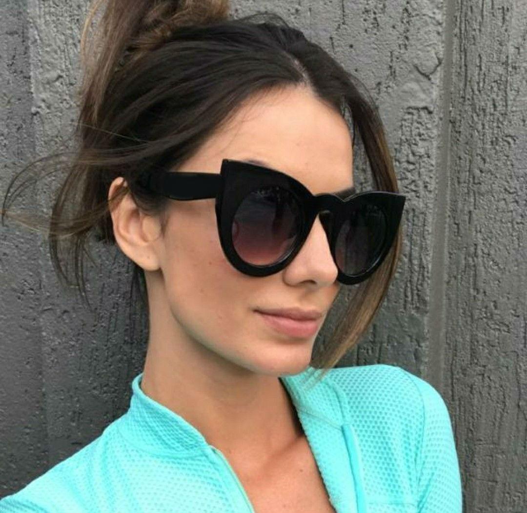 99a8d7d22 óculos de sol escuro feminino vintage estiloso coleção nova. Carregando  zoom.