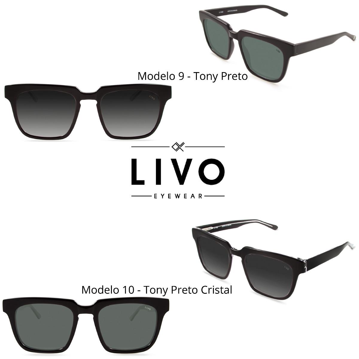 8369aba442932 Óculos De Sol Escuro Masculino - Livo - R  399,00 em Mercado Livre