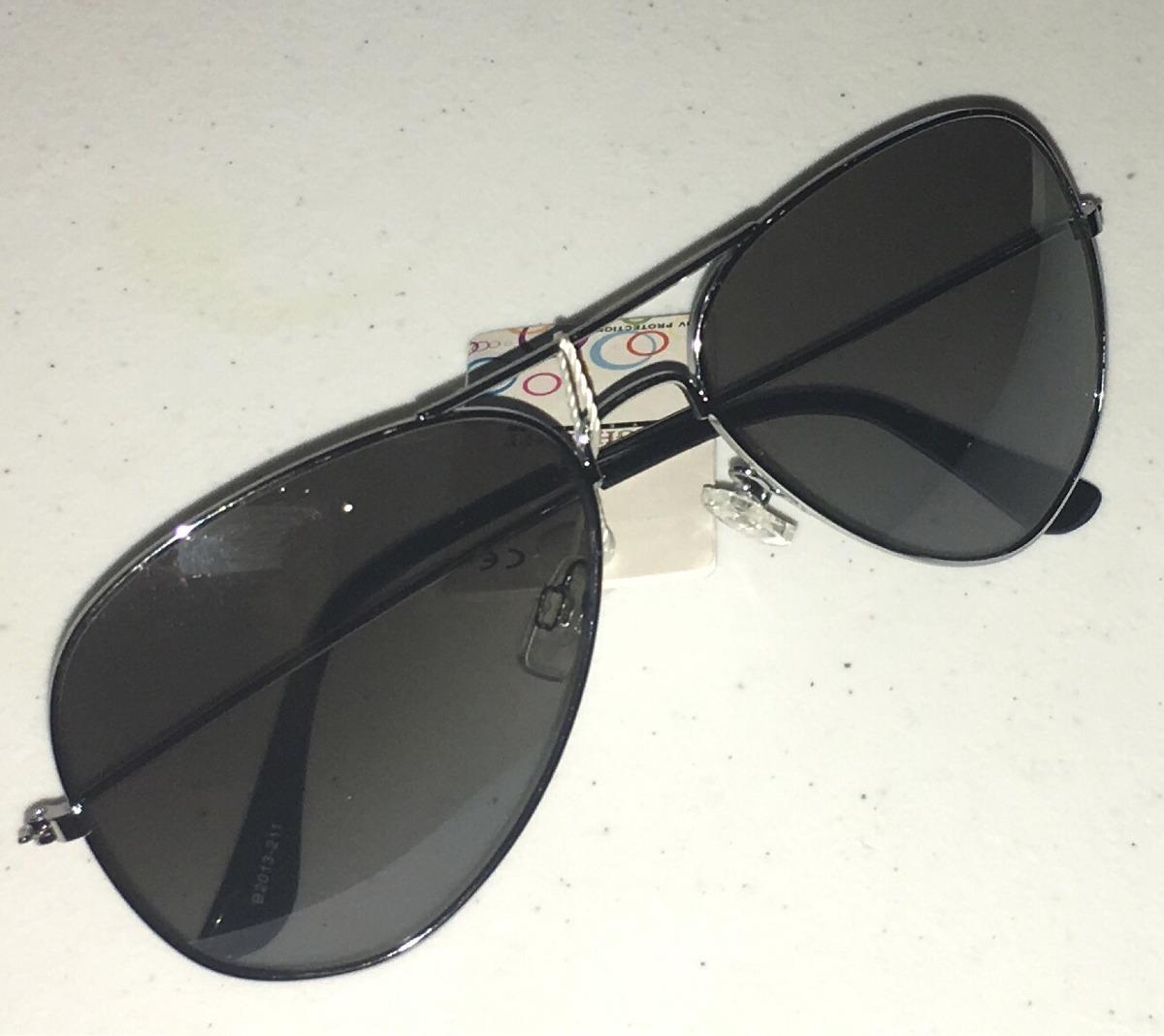 2eb6911a6d2a3 Óculos De Sol Escuros Estilo Aviador Prata Masculino - R  25