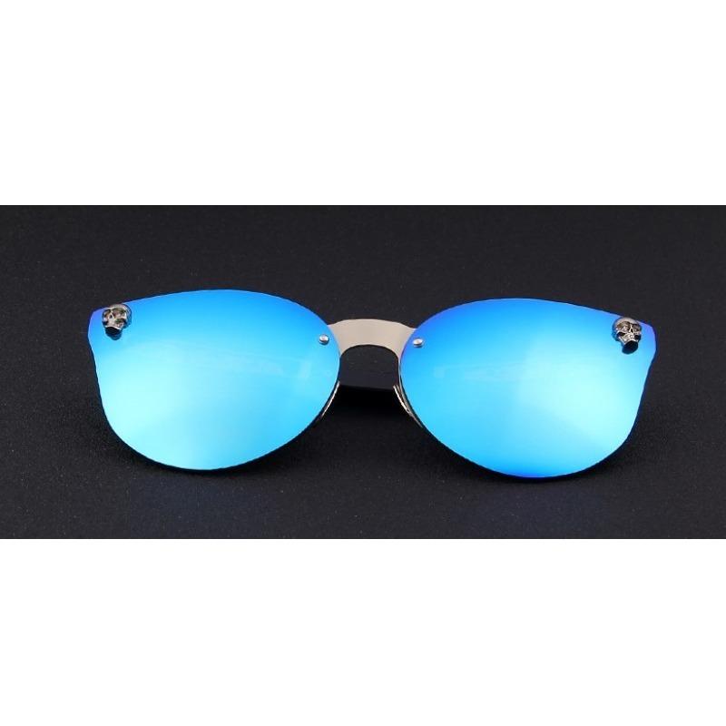 79c260093d648 Óculos De Sol Espelhado Feminino Lente Azul - R  79,90 em Mercado Livre