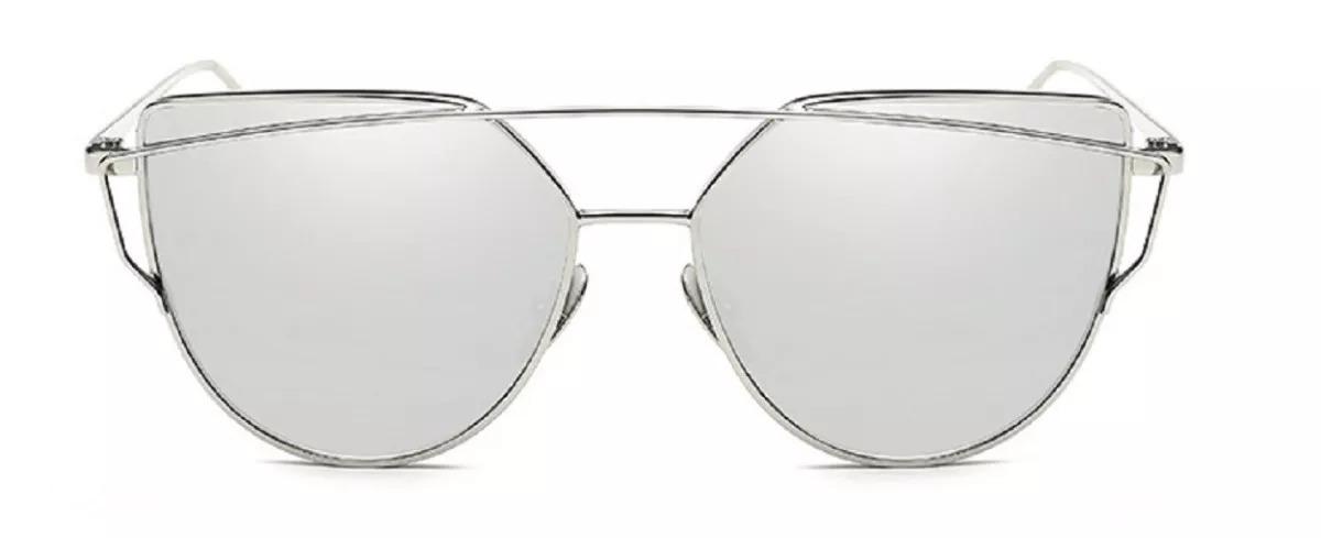 b139c874dd6f6 óculos de sol espelhado feminino metal olho de gato gatinho. Carregando  zoom.