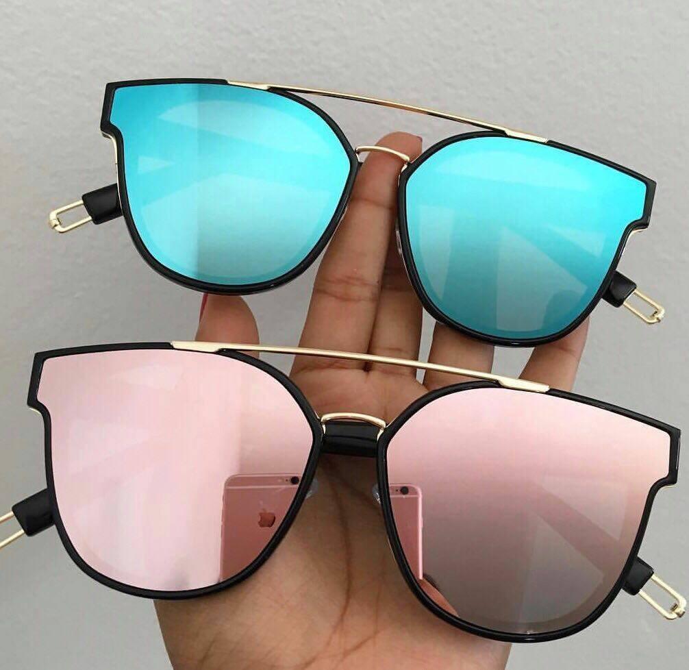 4ab3c6e6e óculos de sol espelhado gatinho original barato. Carregando zoom.