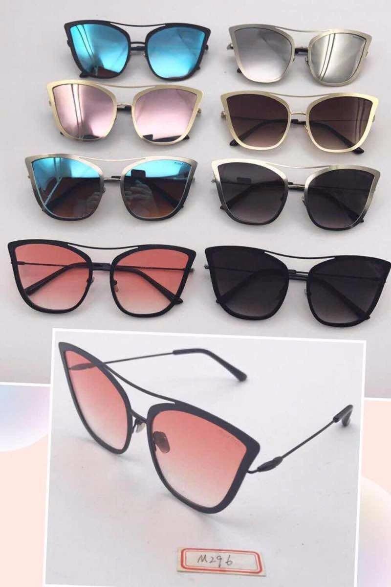 7e92fe0e617db óculos de sol espelhado gatinho redondo metal frete + brinde. Carregando  zoom.