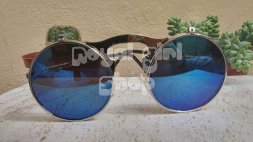 c03f83f5f Oculos De Sol Espelhado Grau Duas Lentes Redondo Flip Up - R$ 29,90 ...