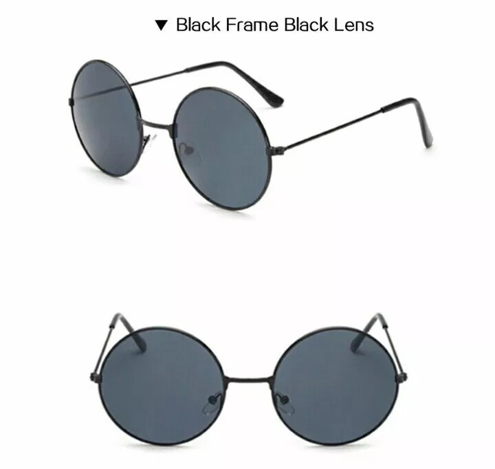 ddbba28e436b8 Óculos De Sol Espelhado Masculino Feminino Redondo Lindo - R  35