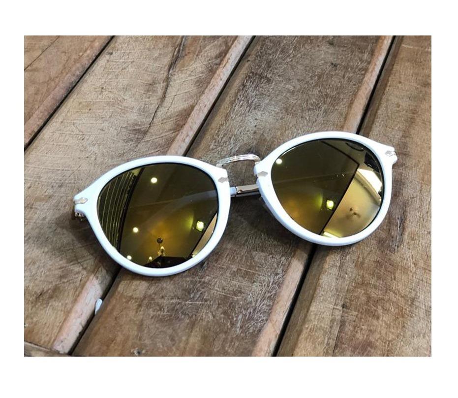 9fc01d5ba3d65 óculos de sol espelhado masculino feminino redondo lindo. Carregando zoom.