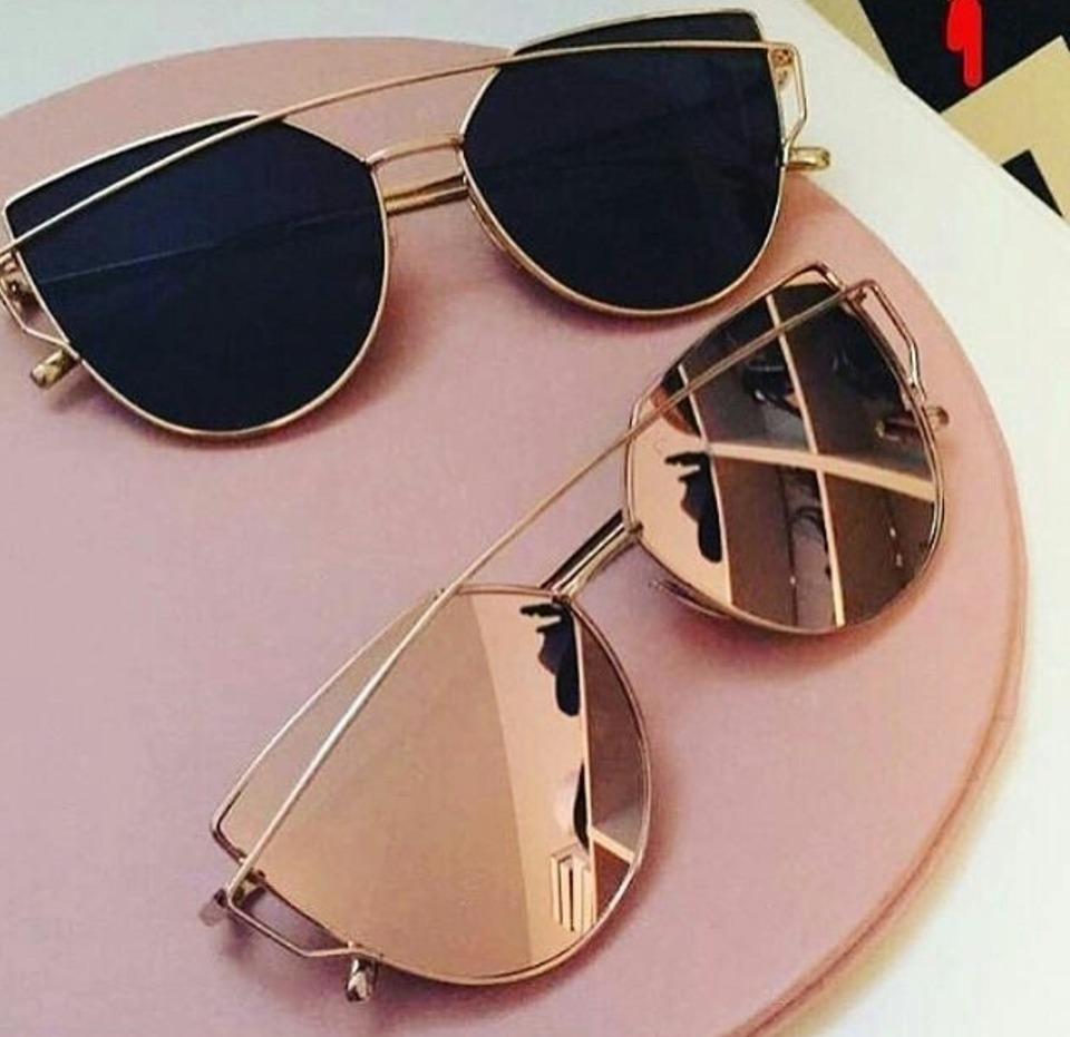 379a28d4581e9 óculos de sol espelhado metal gatinho love frete+case+brinde. Carregando  zoom.