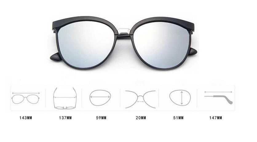 bdaae9c25edba Oculos De Sol Espelhado Prata Prateado Mirror Armaçao Gata - R  59 ...