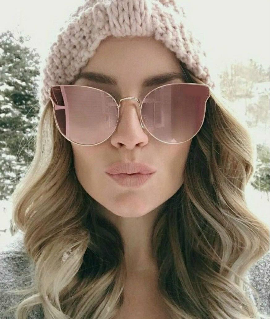 303f66370 Óculos De Sol Espelhado Rosa Gatinho Luxo Lindo Blogueiras - R$ 39 ...