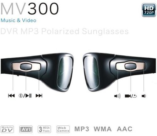 óculos de sol espião câmera hd integrada ciclismo trilha