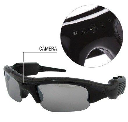 Óculos De Sol Espião Com Alta Resolução - Filma E Fotografa - R  61 ... a49f5b2190
