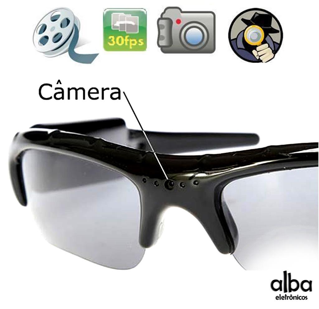 935bf074b óculos de sol espião com alta resolução - filma e fotografa. Carregando  zoom.