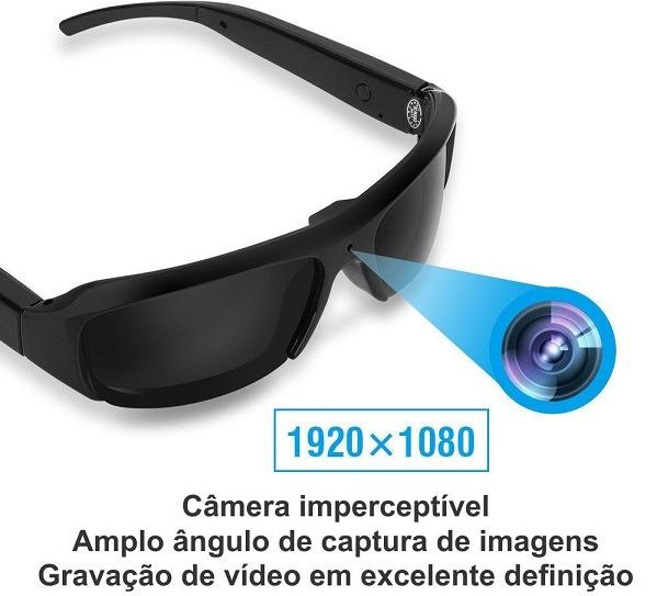 Óculos De Sol Espião Full Hd 1080p 16gb Filma Tira Foto - R  279,99 ... 46fdd163de