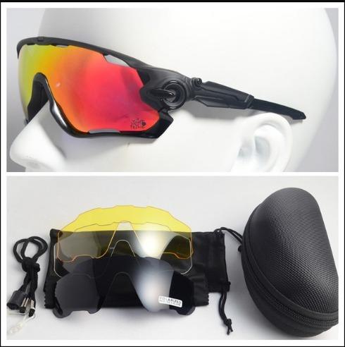 26467e4652be8 Óculos De Sol Esportivo Bike Speed 4 Lentes Kapvoe Preto - R  150,00 ...