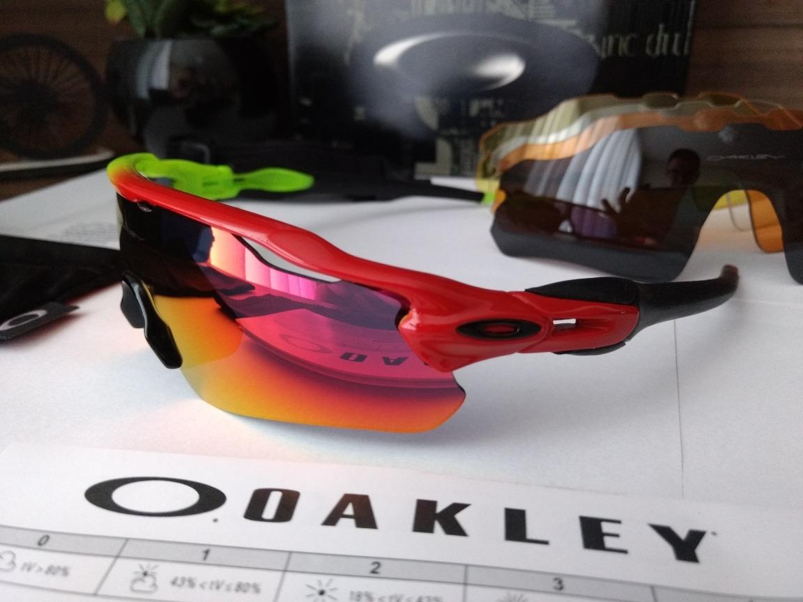 c8caa7a8b20e3 óculos de sol esportivo   ciclismo oakley radar com 5 lentes. Carregando  zoom.