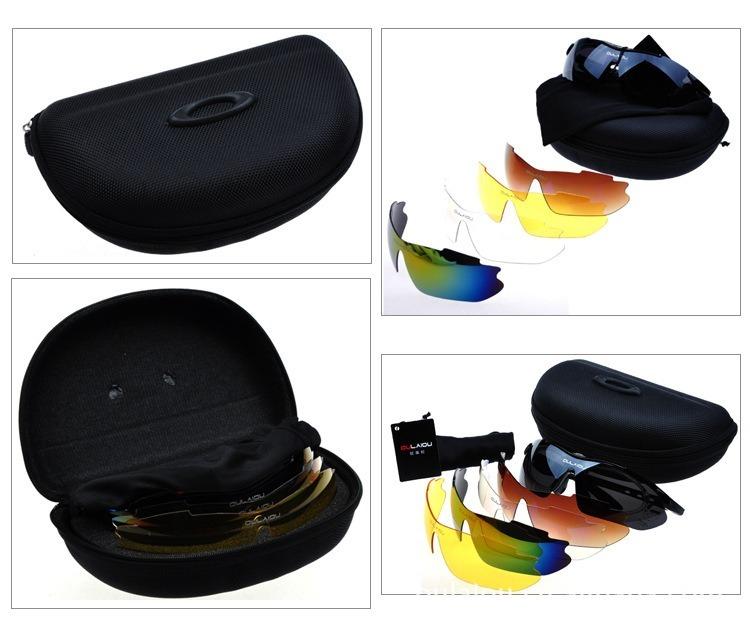 b20b8669c252b Óculos De Sol Esportivo Oakley Bike 6 Lentes Com Proteção - R  179 ...