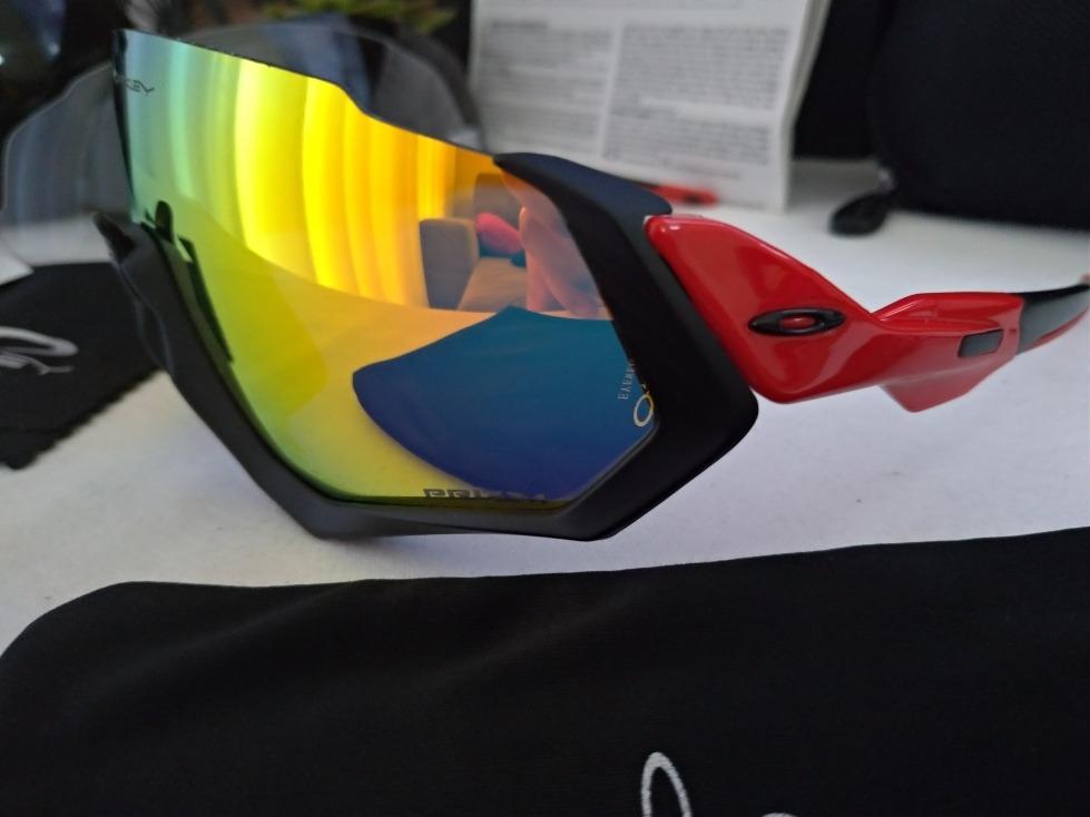 38afacd78dfd7 Óculos De Sol Esportivo Oakley Flight Jacket