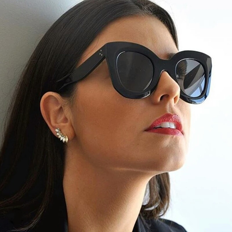 8df9f81a2 óculos de sol estilo feminino gatinho retrô proteção uv400. Carregando zoom.
