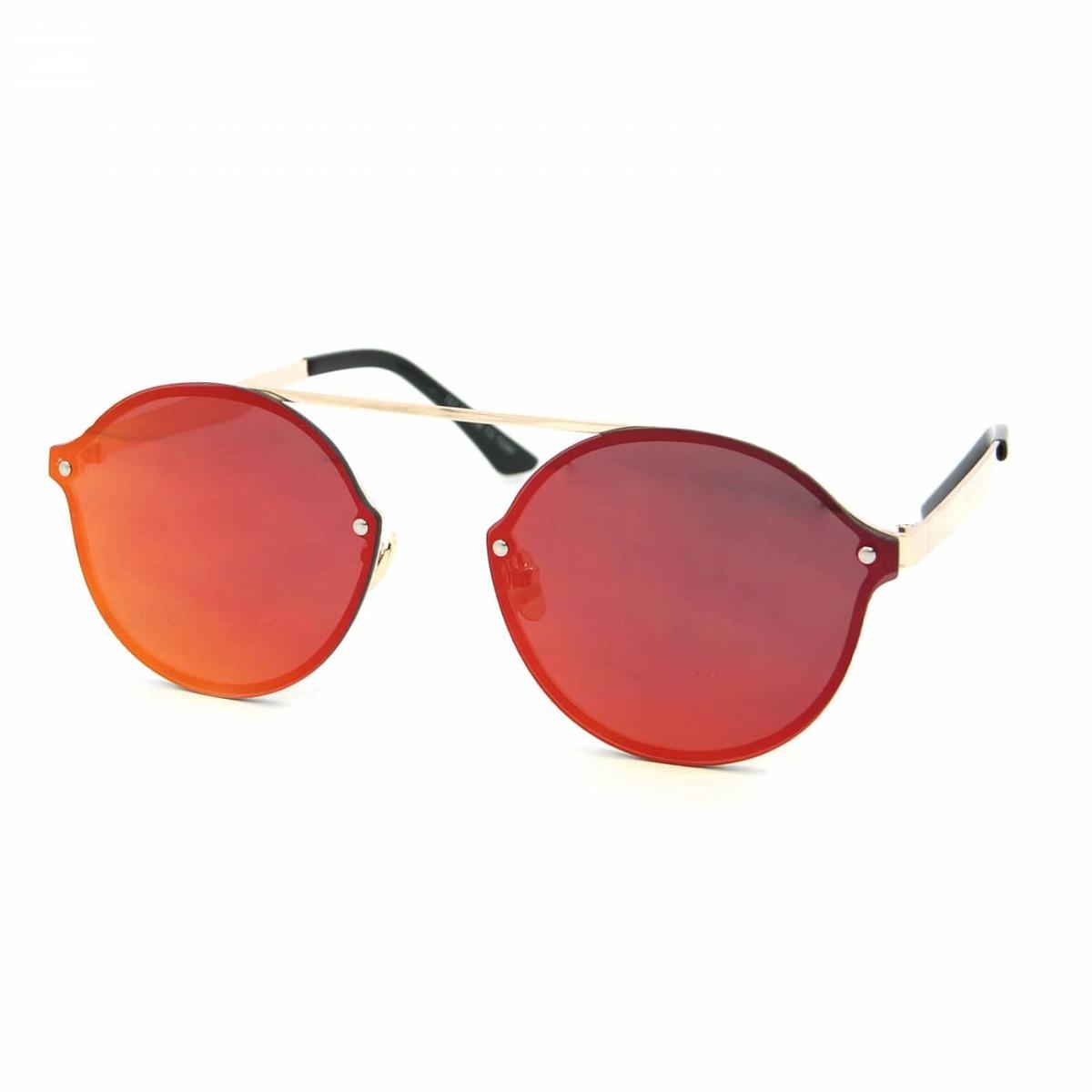 8fa5fd1fb Óculos De Sol Estilo Flat Com Lente Espelhada Rosa - R$ 114,17 em Mercado  Livre