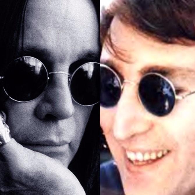 Óculos De Sol Estilo John Lennon Preto Lentes Pretas - R  29,95 em ... d804ddd9eb