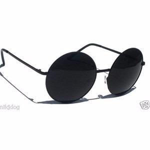 c48e49d2b6aa5 Óculos De Sol Estilo John Lennon Todo Preto - R  29,94 em Mercado Livre