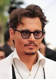 21e0ea531ac52 Óculos De Sol Estilo Johnny Depp Lentes Cinza Claro - R  98