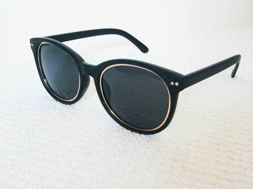 oculos de sol estilo madeira preto