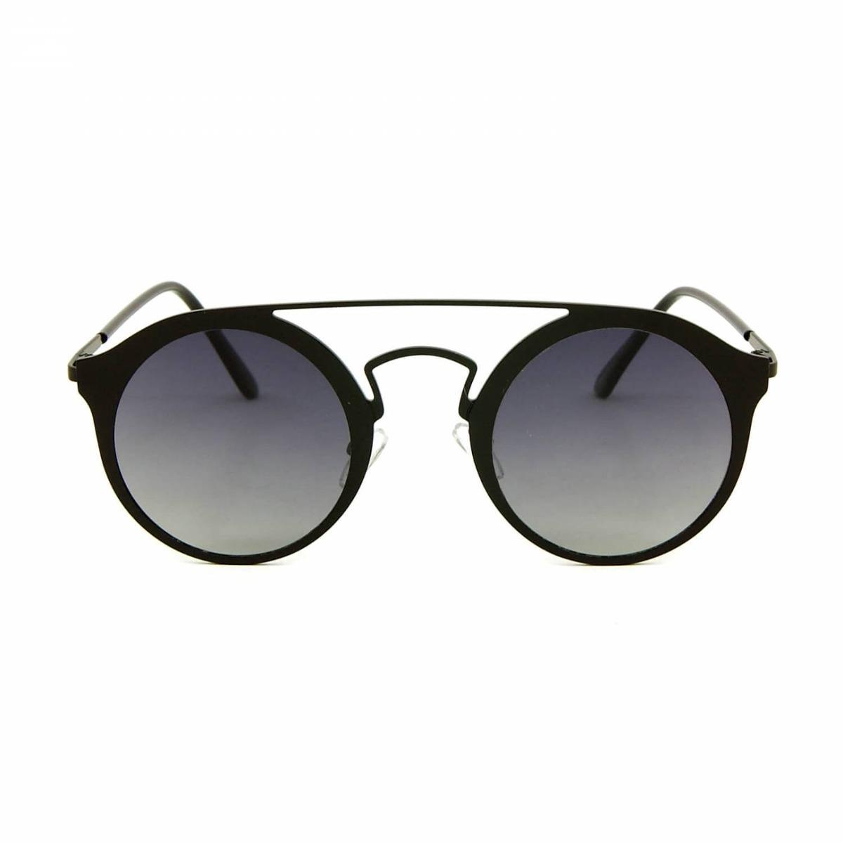 f96c42ed5c89d óculos de sol estilo top bar redondo preto. Carregando zoom.