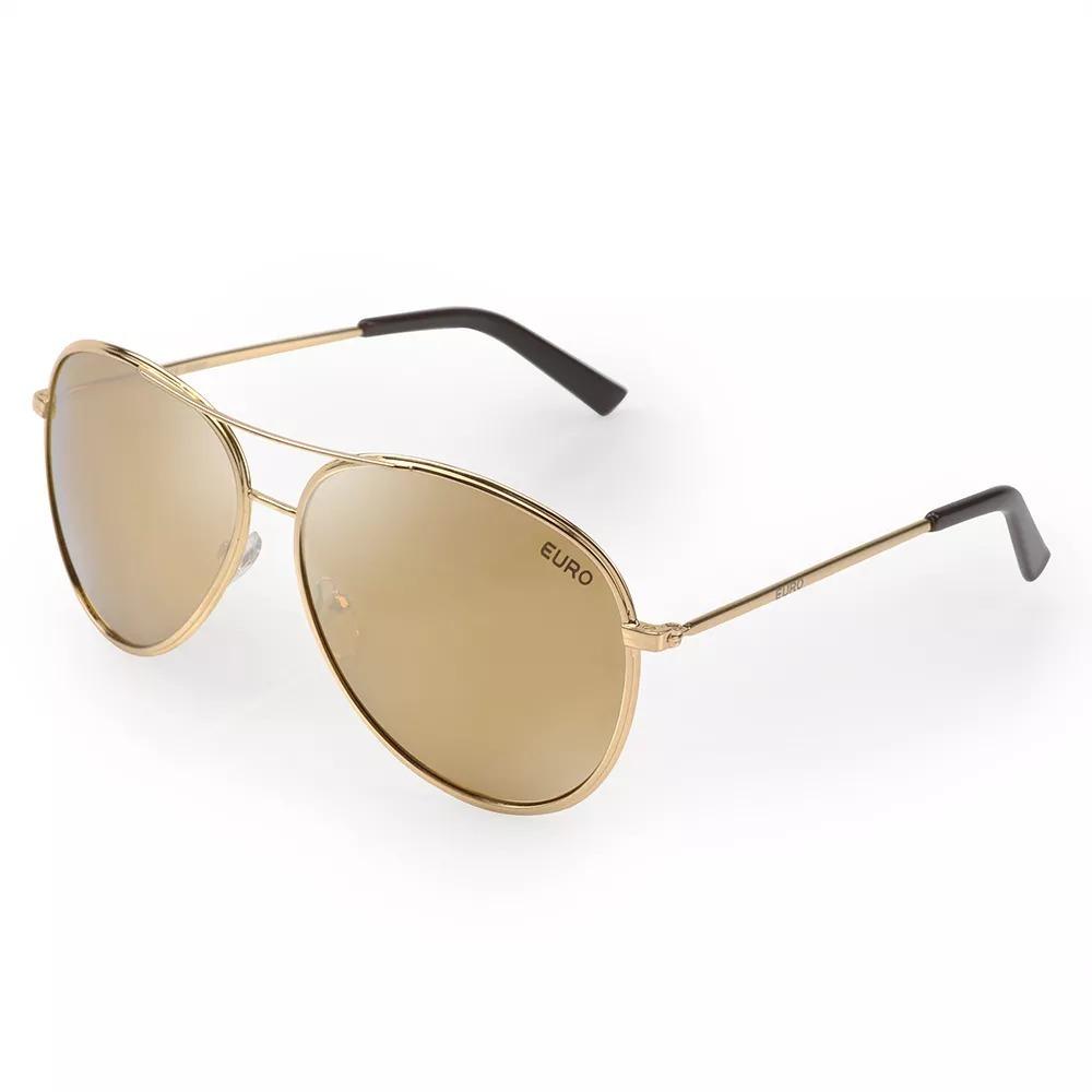 óculos de sol euro feminino aviador dourado oc203eu 4d. Carregando zoom. fb90fb47bd